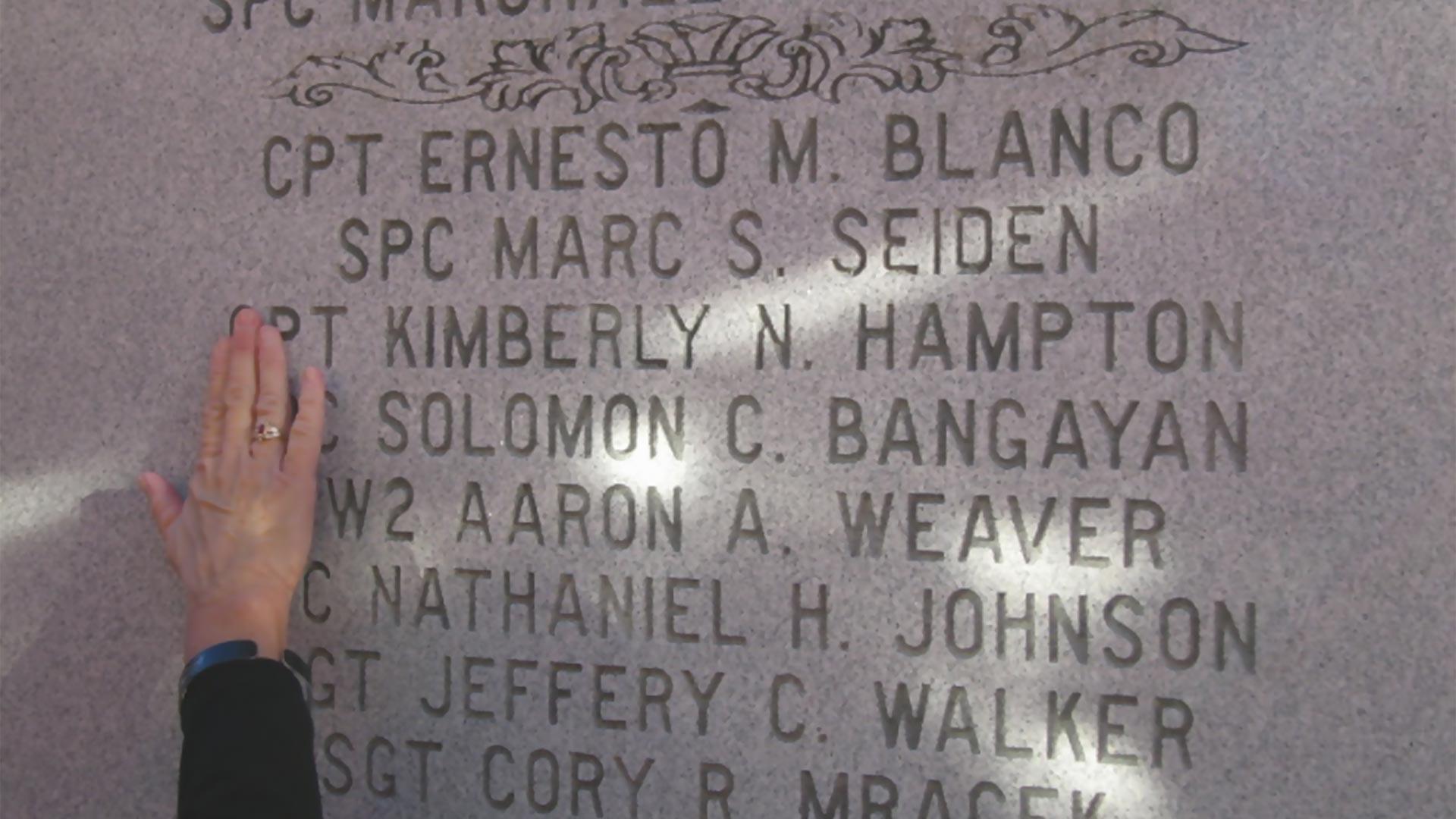 Captain Kimberly N. Hampton Name on Wall