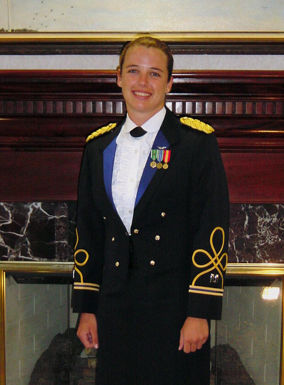 Captain Kimberly Hampton in Uniform